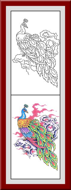 Coloring Pages With Examples. Printable Flower Coloring Pages 30 High definition coloring pages  black outlines with colored examples This flower page is from Flowers