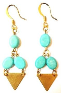BO Triangle et Turquoises via AMAbijoux. Click on the image to see more!