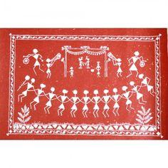 Village Wedding - Warli Painting