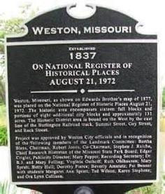 Weston, Missouri--one of my favorite places...
