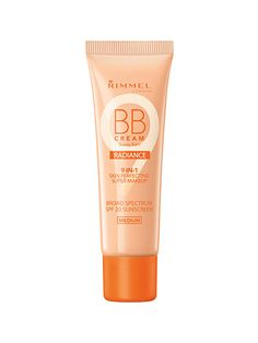 FACE AND BASE  Rimmel London BB Cream in Radiance    This medium-coverage BB cream has a hint of sheen and light reflectors to make skin look smooth and downright glow-y. You'll be able to grab it from shelves in March.