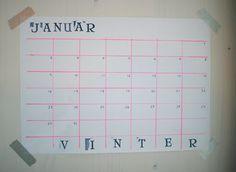 stamped calender, month & season