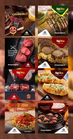 Social Media Ad, Social Media Template, Social Media Design, Social Media Marketing, Supermarket Design, Meat Shop, Food Template, Food Banner, Instagram Banner