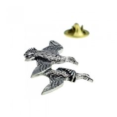 Pheasant Flying Driven English Pewter Lapel Pin Badge Brooch Hand Made Gift Box