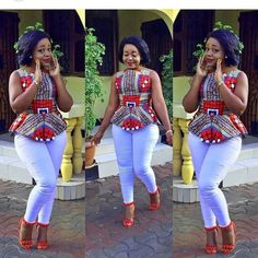 Trending Ankara Tops at the Moment African Fashion Designers, African Fashion Ankara, Latest African Fashion Dresses, African Print Dresses, African Dresses For Women, African Print Fashion, Africa Fashion, African Attire, African Wear