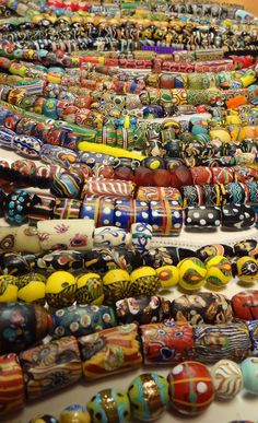 Antique Venetian beads from the African trade circa late 1800's, early 1900's.