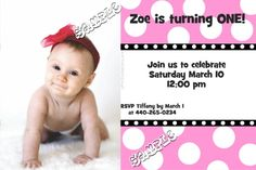 1st Birthday Invitations :)