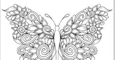 Kids coloring book, coloring page, free coloring pdf Printable Adult Coloring Pages, Disney Coloring Pages, Coloring For Kids, Free Coloring, Colouring, Coloring Books, Artwork Ideas, Pdf, Butterfly