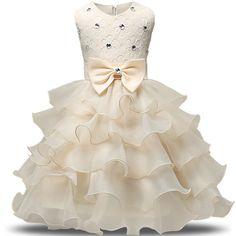 11.99$  Buy now - http://alirnx.shopchina.info/go.php?t=32777394280 - 2017 New Multi Layers baby girl dresses beads princess dress cute party flower girl dress vestido princesa nina verao boda 0M-9Y 11.99$ #magazine