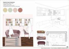 Architecture Concept Diagram, Interior Design Presentation, Interior Design Boards, Arch Model, Graphic Design Print, Technical Drawing, Photoshop, Interior Styling, Interior Architecture
