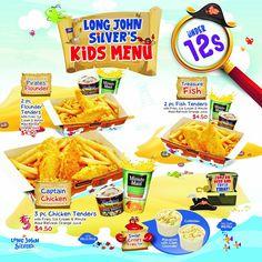 Long John Silver, Kids Menu, Snack Recipes, Snacks, Chicken Tenders, Pop Tarts, Chips, Food, Kids Lunch Menu