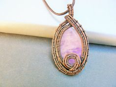 NERIA  Amethyst and Copper Wirewrapped Pendant by adornjewels pin to save, click to buy