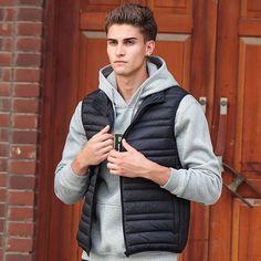 Jacket Men 2016 New Brand clothing antumn Winter Casual Down Vest Slim