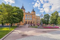 View Of The City Hall.City Of Oulu.Finland Stock Image - Image of revival, cloud: 142557979 Budget Travel, Travel Guide, Finland Travel, Island Park, Europe Destinations, Plan Your Trip, Best Hotels, City, Finland