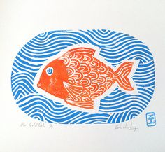 simple linocut prints - Google Search