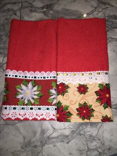 Christmas Towels, Christmas Sewing, Christmas Projects, Ribbon Embroidery, Machine Embroidery, Felt Crafts, Diy And Crafts, Quilting Projects, Sewing Projects