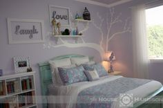 Bug's Lavender and Turquoise {Tween} Room