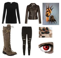 Fnaf 4 nightmare Freddy inspired outfit by mangle87 on Polyvore featuring polyvore, fashion, style, Sunspel, Gucci and Liliana