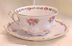Teacup & Saucer Austria Moritz Zdekauer Ca 1900