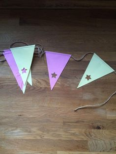 Beautiful disposable paper bunting with star cut by MinkandBerts