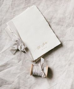 Beautiful paper goods from @writtenwordcalligraphy with a custom soft grey #froufrouchic silk ribbon. Photo by @ktmerry. @stacymccain