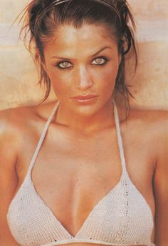 """Helena Christensen-""""De Sable Et De Soie"""", Vogue France, May, 1994. Photographer: Pamela Hanson"""