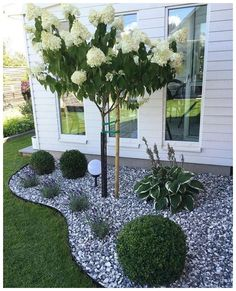 Small backyard landscaping - Excited Front Yard Landscaping Ideas with White Rocks – Small backyard landscaping Small Backyard Landscaping, Landscaping With Rocks, Landscaping Plants, Landscaping Ideas, Backyard Ideas, Patio Ideas, Pool Ideas, Backyard Patio, Backyard Playground