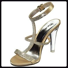 Fabulicious LUMINA-23 4 3/4 Inch Heel, 1 Inch PF Ankle Strap Sandal w/ RS