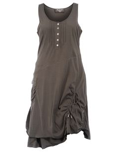 Cotton tank dress in Dark-Green designed by Ultimate Miks to find in Category Dresses at navabi.de