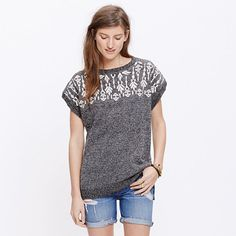 Madewell - Embroidered Tunic Sweater