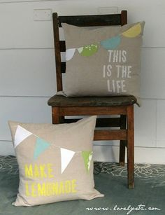 Great summer pillows for couch and chair