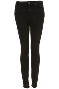 MOTO Worn Black High Waist Jamie Jeans - the fact that these are high waisted only makes them better