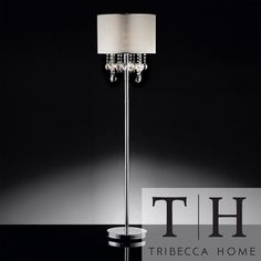 TRIBECCA HOME Audrina Drape Crystal Floor Lamp | Overstock.com Shopping - Great Deals on Tribecca Home Floor Lamps