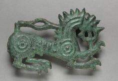 Lion Plaque, 1000-500 BC Iran, Scythian, 1st half 1st millennium BC  bronze, repoussé