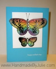 The stained glass vellum butterflies are just beautiful!! Awesome idea!