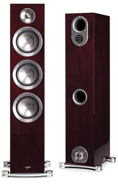 """Paradigm Electronics: """"If aesthetics as well as build quality matter to you as much as sound quality, you would be well advised to give the Paradigm Prestige a serious audition"""" - CANADA HiFi Audiophile Speakers, Hifi Audio, Stereo Speakers, Best Speakers, Record Storage, Speaker System, Vacuum Tube, Loudspeaker, Audio Equipment"""