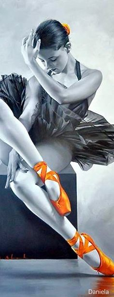 Painting by Chung Shek ~ Figurative painter Ballet Painting, Dance Paintings, Ballet Art, Ballet Dancers, Ballerinas, Splash Photography, Ballet Photography, Ballerina Poses, Ballet Images