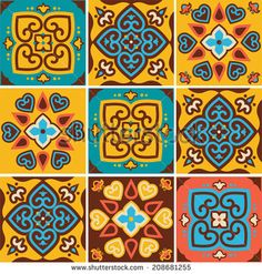Find ESTAMPAS DE azulejos stock images in HD and millions of other royalty-free stock photos, illustrations and vectors in the Shutterstock collection. Painting Ceramic Tiles, Ceramic Wall Tiles, Tile Art, Paisley Art, Posca Art, Rustic Ceramics, Arabic Pattern, Decoupage Paper, Pattern Illustration
