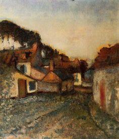 Village Street via Edgar Degas  Medium: oil on canvas