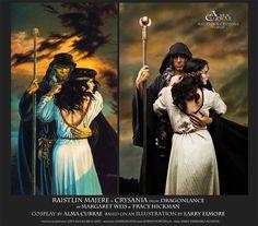 Raistlin and Crysania from Dragonlance