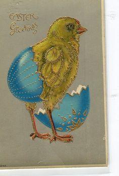 Easter Vintage  Postcard Easter Chick by sharonfostervintage, $4.75