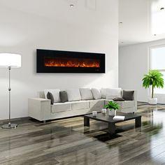 "Modern Flames 95"" AL Series Linear Electric Fireplace | WoodlandDirect.com…"