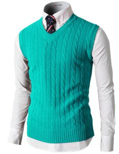214816c7cd2b H2H Mens Knitted Sweater Vest With Two Button On The Neckline at Amazon  Men s Clothing store