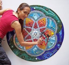 "MOSAICO CREATIVO de fj Mosaic Art: MURAL IN PROGRESS ""MANDALA"""