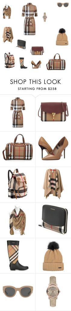 """Burberry travel set"" by holmesisis ❤ liked on Polyvore featuring Burberry"