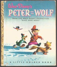 Little Golden Books - Peter and the Wolf from Make Mine Music Photo Vintage, Little Golden Books, Children's Literature, Classic Literature, Vintage Children's Books, Classic Books, Vintage Disney, Love Book, Childhood Memories