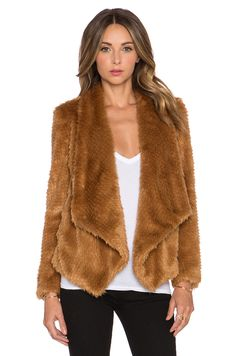 Shop for Bardot Faux Fur Waterfall Jacket in Cinnamon at REVOLVE. Free day shipping and returns, 30 day price match guarantee. Brown Faux Fur Coat, Waterfall Jacket, Revolve Clothing, Designing Women, Bardot, Jackets For Women, Luxury Fashion, Fashion Outfits, Cinnamon