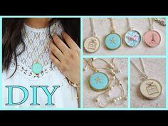 DIY Necklaces: Chanel, Lace, Starfish, & Paris (Resin/Mod Podge) - YouTube