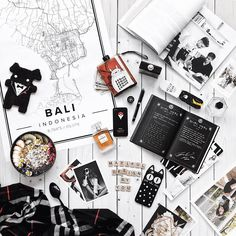 Map poster of Bali, Indonesia. Print size 50 x 70 cm. Custom black and white map posters online. Mapiful.com.