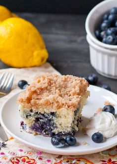 Blueberry Buckle Coffee Cake | The perfect addition to your morning coffee.